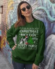 Christmas Is Better WIth A Gypsy Horse Crewneck Sweatshirt lifestyle-unisex-sweatshirt-front-3