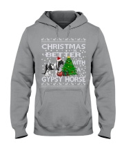 Christmas Is Better WIth A Gypsy Horse Hooded Sweatshirt thumbnail