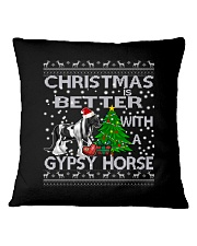 Christmas Is Better WIth A Gypsy Horse Square Pillowcase thumbnail