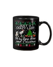 Crazy Lady Loves Gypsy Horse And Christmas Mug thumbnail