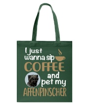 Sip Coffee With My Affenpinscher Tote Bag thumbnail