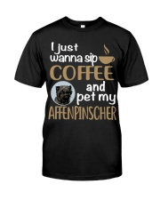 Sip Coffee With My Affenpinscher Classic T-Shirt front
