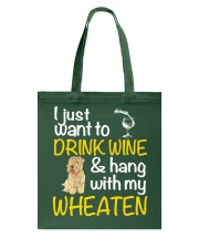 Drink Wine Soft-Coated Wheaten Terrier  Tote Bag thumbnail