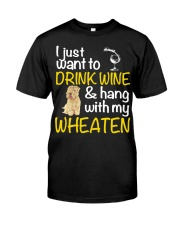Drink Wine Soft-Coated Wheaten Terrier  Classic T-Shirt thumbnail