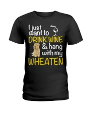 Drink Wine Soft-Coated Wheaten Terrier  Ladies T-Shirt tile
