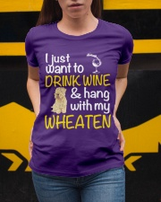 Drink Wine Soft-Coated Wheaten Terrier  Ladies T-Shirt apparel-ladies-t-shirt-lifestyle-04