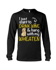 Drink Wine Soft-Coated Wheaten Terrier  Long Sleeve Tee thumbnail