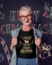 Crazy PBGV Mom Better Than Stupid Ladies T-Shirt lifestyle-holiday-crewneck-front-3