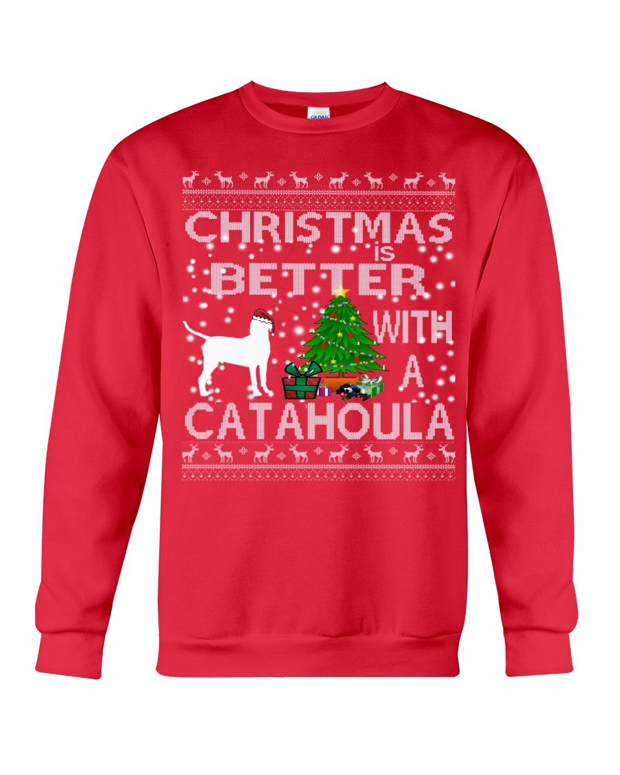 Christmas Is Better With A Catahoula Crewneck Sweatshirt