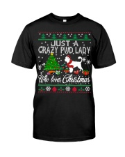 Crazy Portuguese Water PWD Lady And Christmas Classic T-Shirt thumbnail