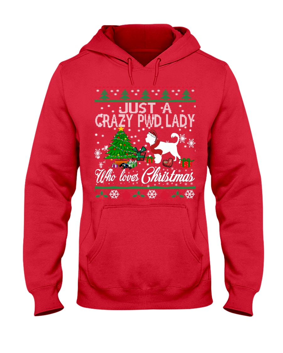 Crazy Portuguese Water PWD Lady And Christmas Hooded Sweatshirt