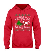Crazy Portuguese Water PWD Lady And Christmas Hooded Sweatshirt front