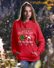 Crazy Portuguese Water PWD Lady And Christmas Hooded Sweatshirt lifestyle-holiday-hoodie-front-5