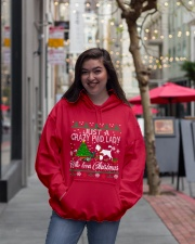 Crazy Portuguese Water PWD Lady And Christmas Hooded Sweatshirt lifestyle-unisex-hoodie-front-2