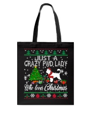 Crazy Portuguese Water PWD Lady And Christmas Tote Bag thumbnail