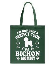 Perfect Cook And Bichon Frise Mom Tote Bag thumbnail
