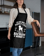 Perfect Cook And Bichon Frise Mom Apron aos-apron-27x30-lifestyle-front-02