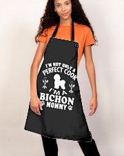 Perfect Cook And Bichon Frise Mom Apron aos-apron-27x30-lifestyle-front-06