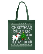 Christmas Is Better With A TIBETAN TERRIER Tote Bag thumbnail