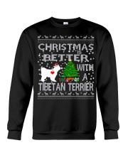 Christmas Is Better With A TIBETAN TERRIER Crewneck Sweatshirt tile