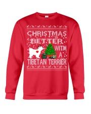 Christmas Is Better With A TIBETAN TERRIER Crewneck Sweatshirt front