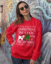 Christmas Is Better With A TIBETAN TERRIER Crewneck Sweatshirt lifestyle-unisex-sweatshirt-front-3