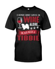 Drink WIne WIth Tibetan Spaniel Classic T-Shirt thumbnail