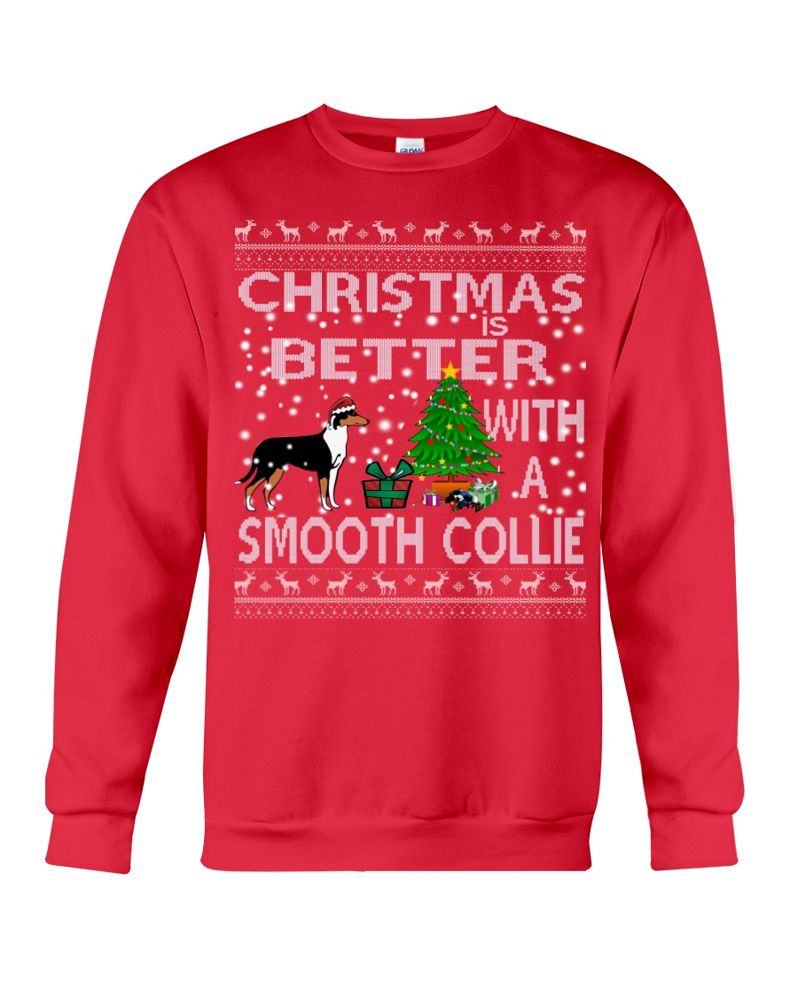 Christmas Is Better With A Smooth Collie Crewneck Sweatshirt