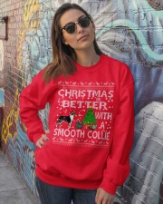 Christmas Is Better With A Smooth Collie Crewneck Sweatshirt lifestyle-unisex-sweatshirt-front-3