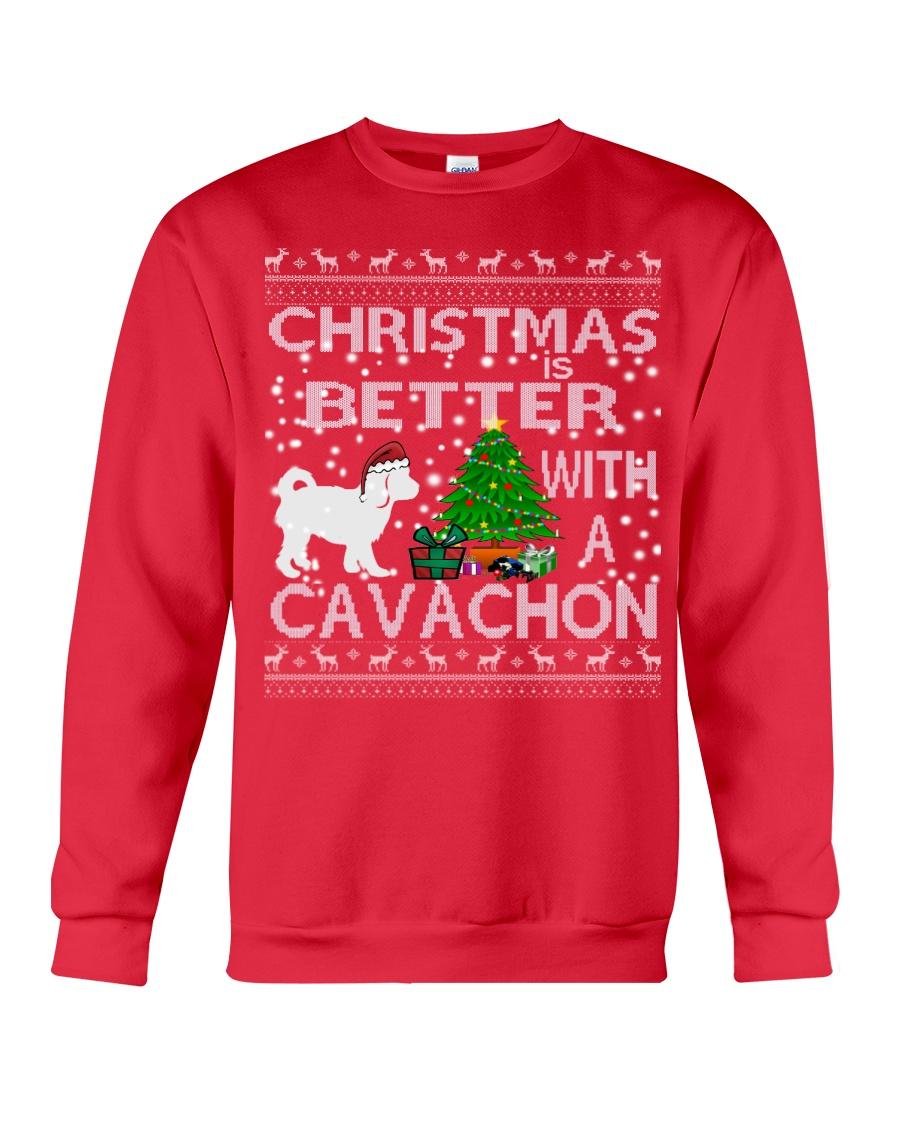 Christmas Is Better With A Cavachon Crewneck Sweatshirt
