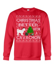 Christmas Is Better With A Cavachon Crewneck Sweatshirt front