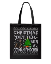 Christmas Is Better With A German Pinscher Tote Bag thumbnail