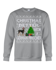 Christmas Is Better With A German Pinscher Crewneck Sweatshirt tile