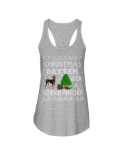 Christmas Is Better With A German Pinscher Ladies Flowy Tank thumbnail