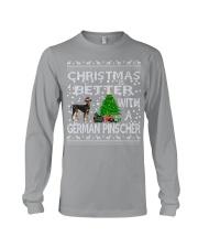 Christmas Is Better With A German Pinscher Long Sleeve Tee thumbnail