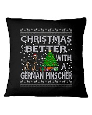 Christmas Is Better With A German Pinscher Square Pillowcase thumbnail
