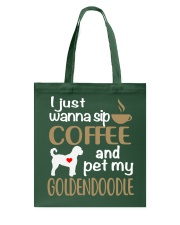 Sip Coffee With My Goldendoodle Tote Bag thumbnail