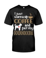 Sip Coffee With My Goldendoodle Classic T-Shirt front