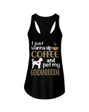 Sip Coffee With My Goldendoodle Ladies Flowy Tank thumbnail