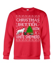 Christmas Is Better With A White Shepherd Crewneck Sweatshirt front