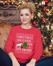 Christmas Is Better With A White Shepherd Crewneck Sweatshirt lifestyle-holiday-sweater-front-2