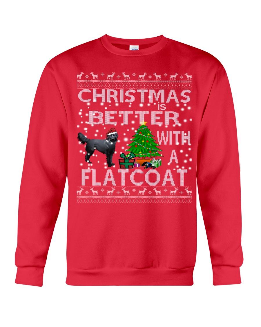 Christmas Is Better With A Flatcoat Crewneck Sweatshirt