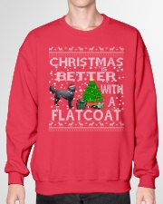 Christmas Is Better With A Flatcoat Crewneck Sweatshirt garment-crewneck-sweatshirt-front-01