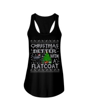 Christmas Is Better With A Flatcoat Ladies Flowy Tank thumbnail
