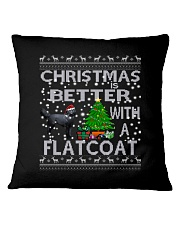 Christmas Is Better With A Flatcoat Square Pillowcase thumbnail