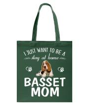 Stay At Home Basset Hound Mom Tote Bag thumbnail