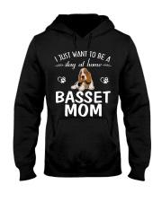 Stay At Home Basset Hound Mom Hooded Sweatshirt thumbnail