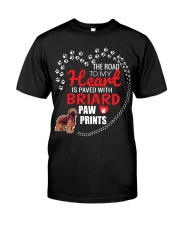 My Heart Paved With Briard Paw Prints Classic T-Shirt thumbnail