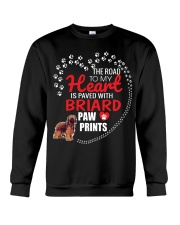 My Heart Paved With Briard Paw Prints Crewneck Sweatshirt thumbnail