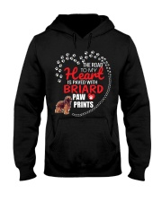 My Heart Paved With Briard Paw Prints Hooded Sweatshirt thumbnail